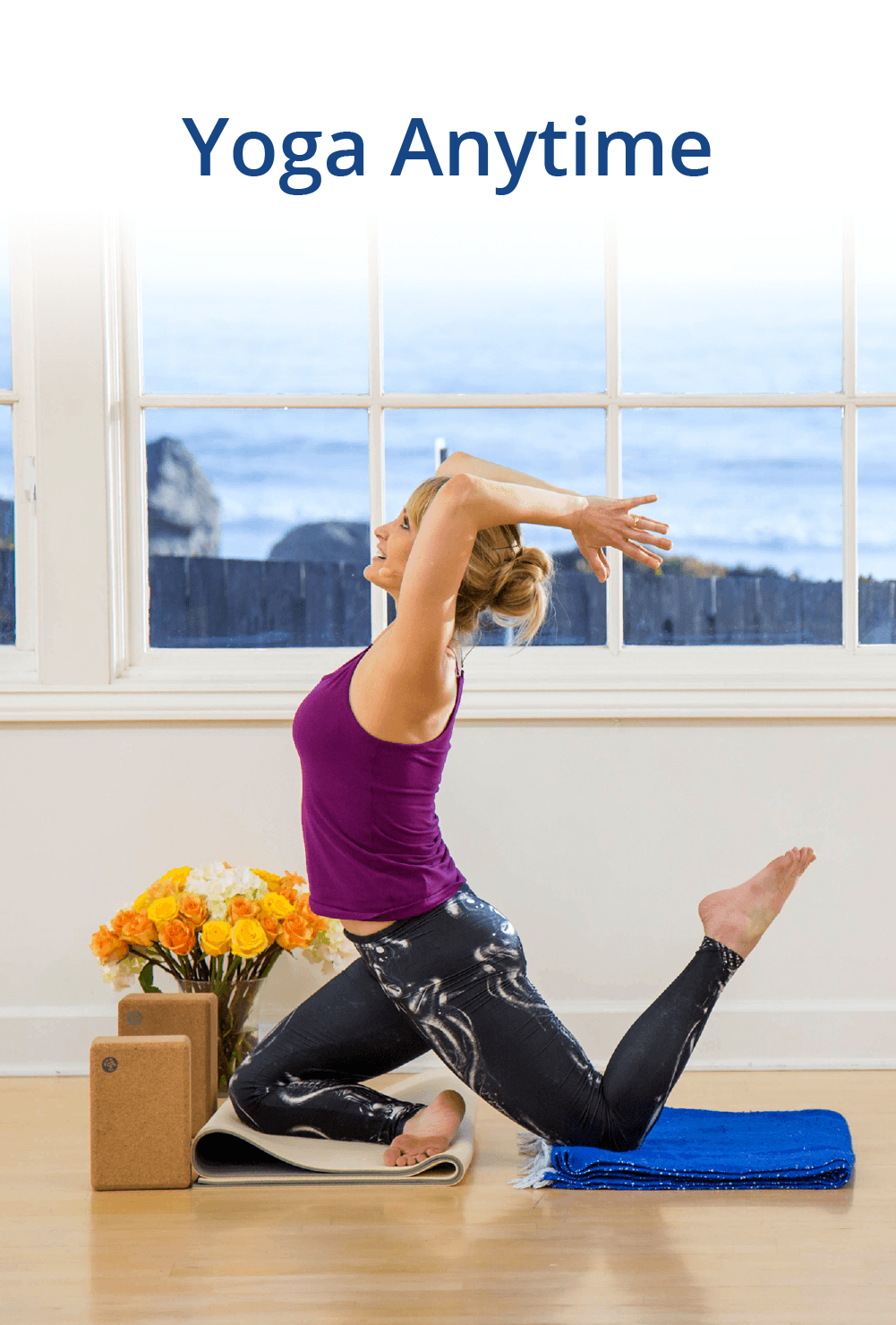 """These online classes will allow you to experience how I would teach a live class to my students. You can also use them to explore your personal movement practice or get new ideas for teaching your own classes and workshops. <a class=""""button"""" href=""""https://trinaaltman.com/yoga-anytime/"""">LEARN MORE</a>"""
